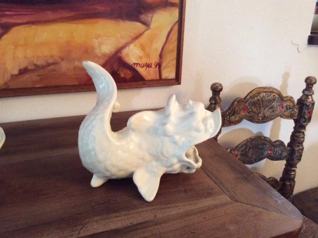 pez ceramica blanca